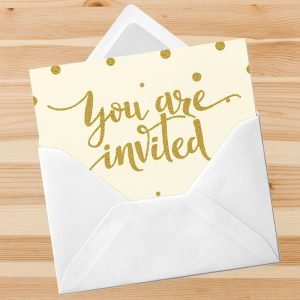 Invitations starting at: