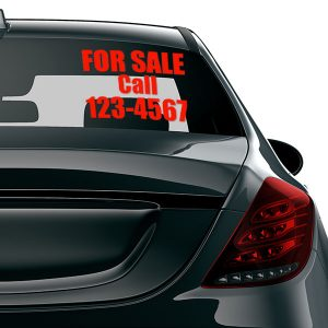 For Sale Car Decal