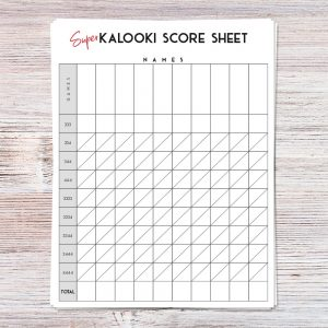 Kalooki Score Sheets (Personalized)