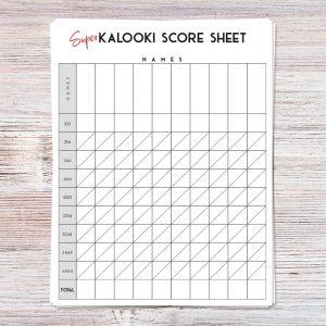 Kalooki Score Sheets (Personalized)