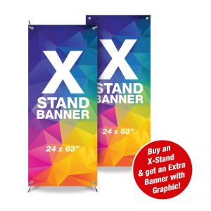 X-Stand Special – 1 Stand + 2 Banners (24×63″)
