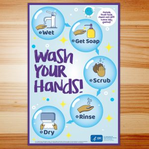 Covid-19 Poster – Wash your hands (11x17in)