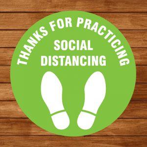Floor Decal – Social Distancing 02