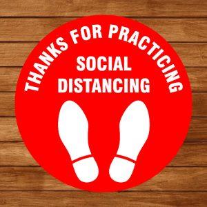 Floor Decal – Social Distancing 03