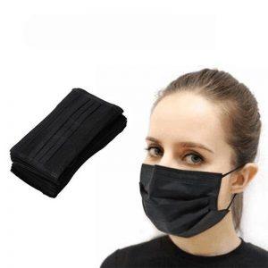 Disposable Black Face Masks (50 Pack)