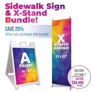 Sidewalk Sign and X-Stand Bundle